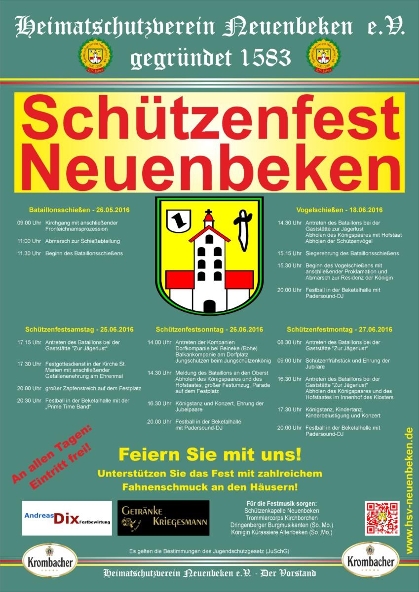 Plakat Schützenfest